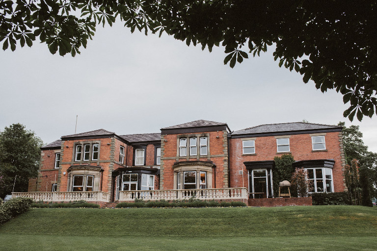 An external view of Ashfield House exclusive luxury country house wedding venue in Lancashire