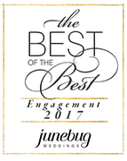 Junebug Weddings best of the best engagement photography badge
